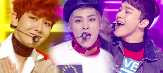EXO-CBX se apresenta com Hey Mama! no Inkigayo