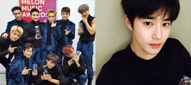 Atualização de Suho e do Staff Diary no site do EXO-L