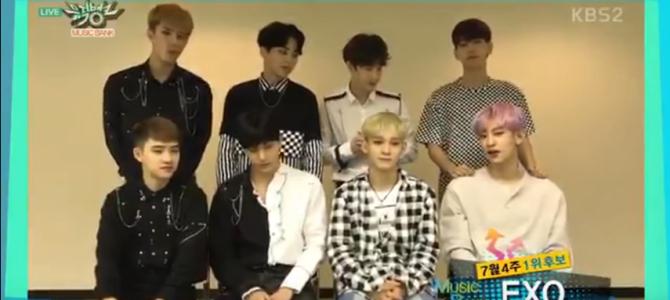 EXO tem sua 3ª vitória no Music Bank