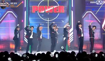 """Comeback Stage do EXO no M!Countdown com """"Power"""""""